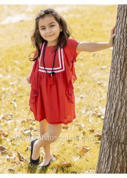 Vestido de bámbula rojo de Martina